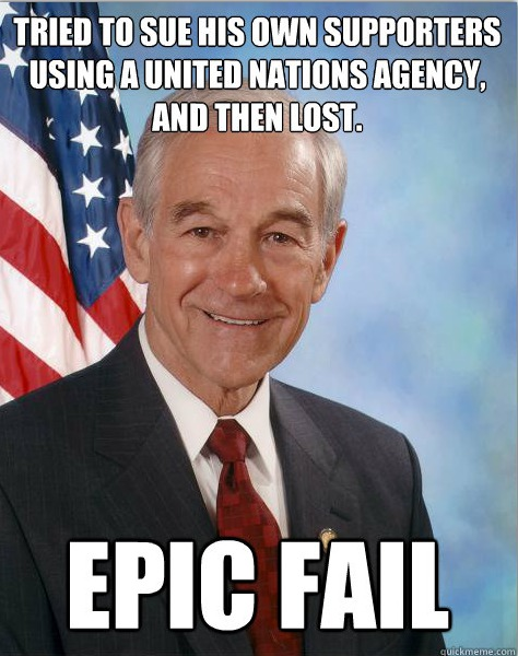 RonPaul.com Copyright Scandal = Epic Fail
