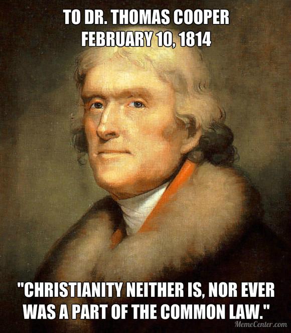 Christianity v. the Common Law - Thomas Jefferson