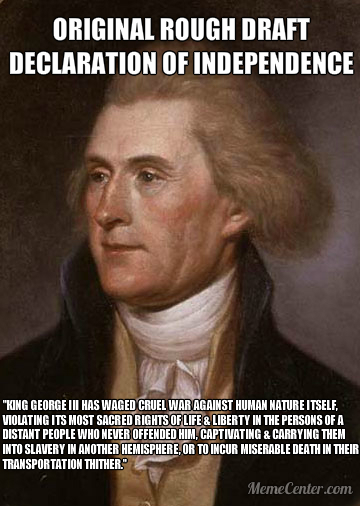 The British Empire is Responsible for American Race Slavery - Thomas Jefferson